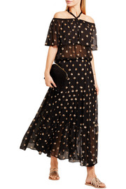 Jolie sequin-embellished georgette maxi dress
