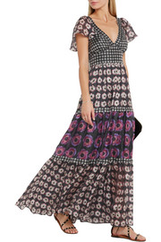 Temperley London Clarion paneled floral-print silk maxi dress