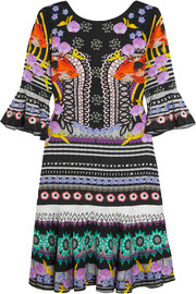 Temperley London Cherise printed stretch-jersey mini dress