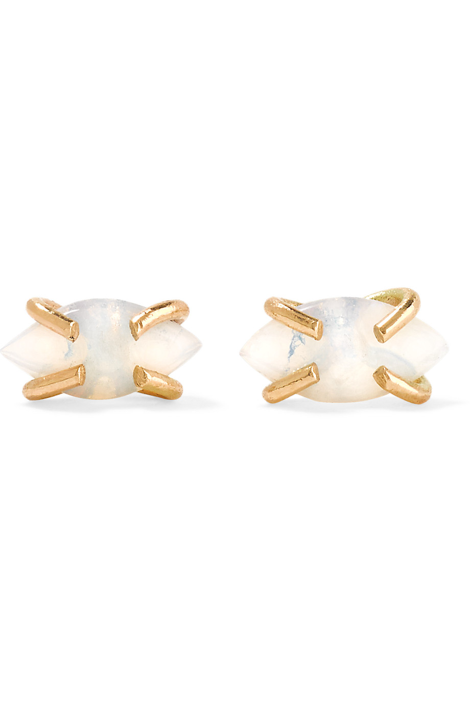 14-Karat Gold Opal Earrings, Melissa Joy Manning, Gold/White, Women's