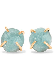 14-karat gold druzy earrings