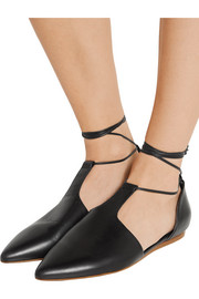 Noella leather point-toe flats