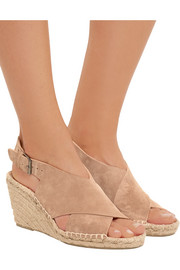 Sabrina suede espadrille wedge sandals