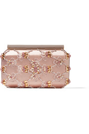Saya embellished satin clutch