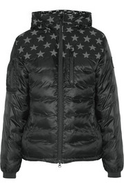Crawford hooded printed shell down jacket