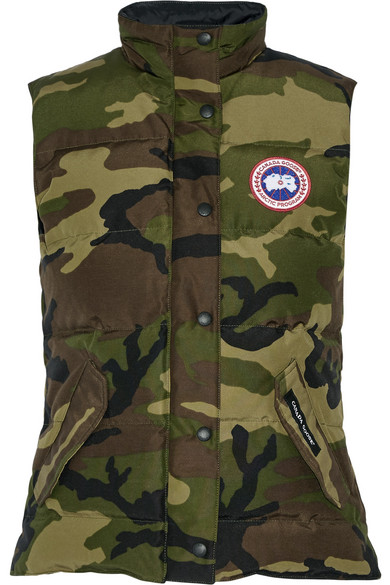 Canada Goose. Freestyle camouflage-print quilted shell down gilet