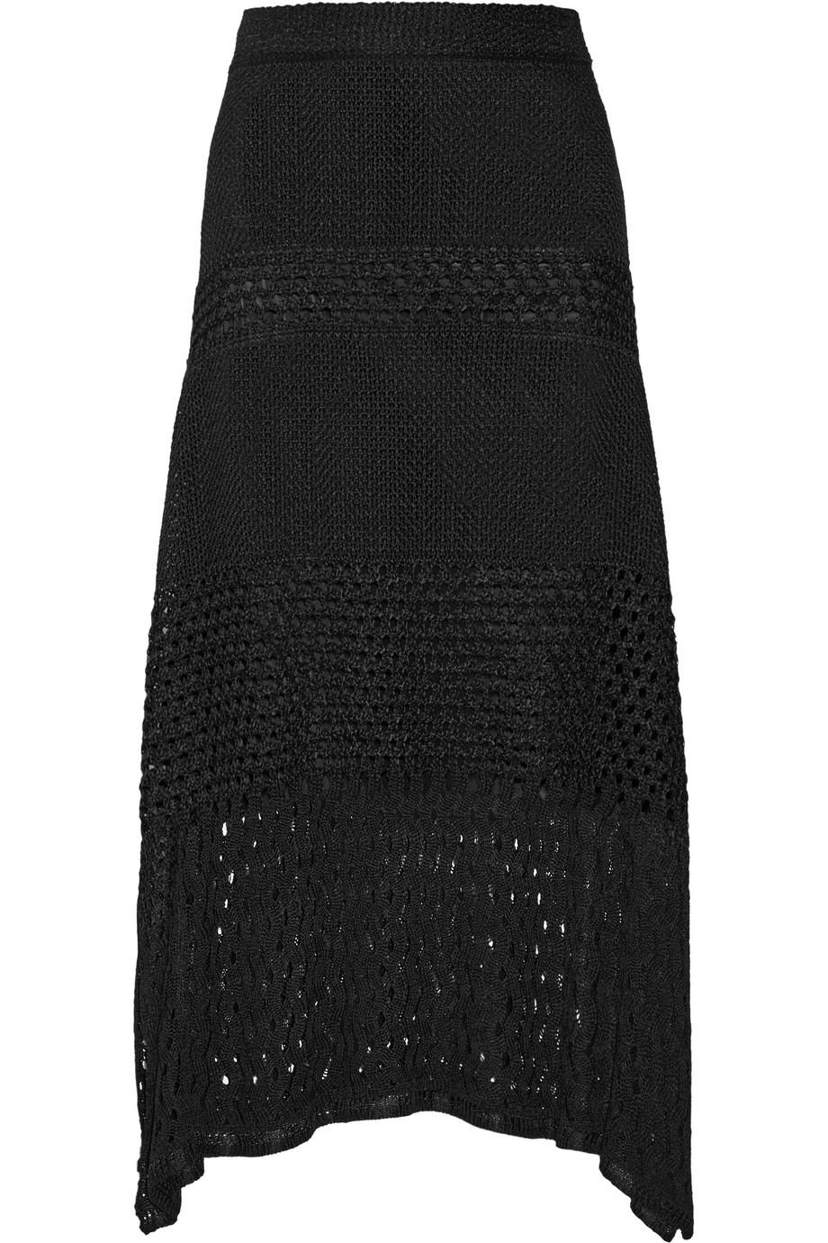 Proenza Schouler Asymmetric Crocheted Skirt