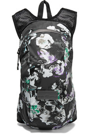 Floral-print shell and mesh backpack