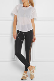 Adidas by Stella McCartney Perforated stretch-jersey leggings