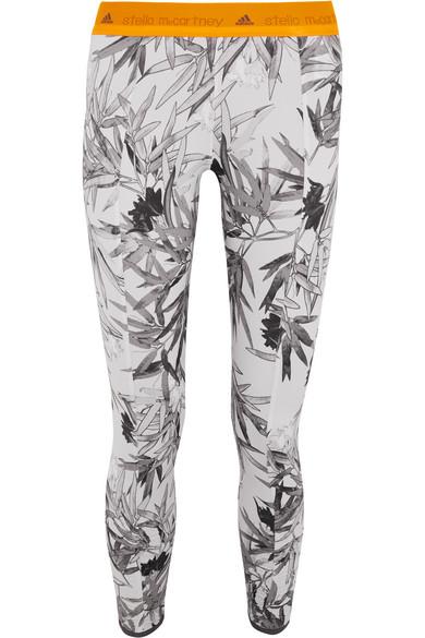 adidas by stella mccartney female 123868 adidas by stella mccartney yoga bamboo printed climalitereg stretchjersey leggings light gray