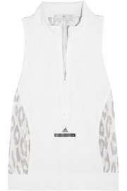 Adidas by Stella McCartney Studio Climacool® stretch-jersey and leopard-print mesh tank