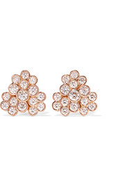 Glamazon® Stardust 18-karat rose gold diamond earrings