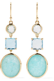Rock Candy® 18-karat gold, topaz and amazonite earrings