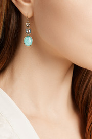Ippolita Rock Candy® 18-karat gold, topaz and amazonite earrings
