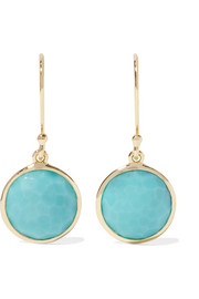 Rock Candy® Mini Lollipop 18-karat gold turquoise earrings