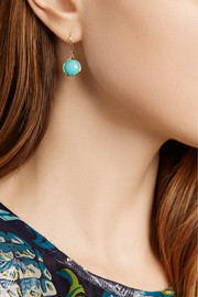 Ippolita Rock Candy® Mini Lollipop 18-karat gold turquoise earrings