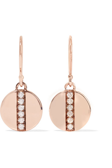 Ippolita - Senso® Stardust 18-karat Rose Gold Diamond Earrings