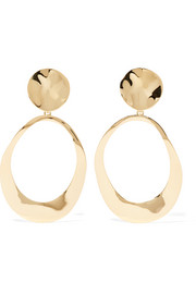 Ippolita Goddess hammered 18-karat gold earrings