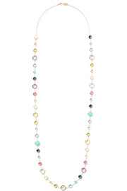 Rock Candy® Lollitini 18-karat gold multi-stone necklace