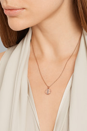 Ippolita Senso® Stardust 18-karat rose gold diamond necklace