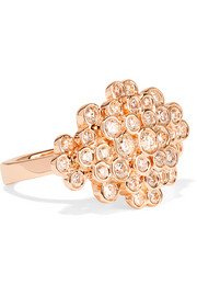 Ippolita Glamazon® Stardust 18-karat rose gold diamond ring