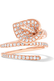 Anita Ko Calla Lily Coil 18-karat rose gold diamond ring