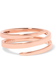 Anita Ko Coil 18-karat rose gold ring