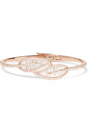 Anita Ko Leaf 18-karat rose gold diamond bracelet