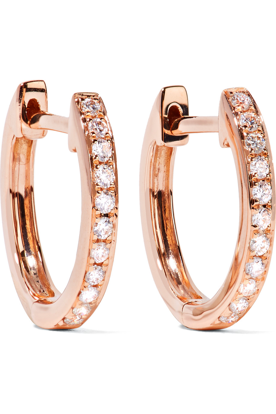Anita Ko Huggy 18-Karat Rose Gold Diamond Earrings