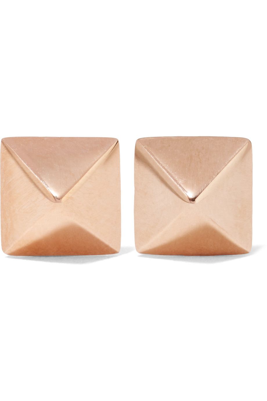 Anita Ko Spike 14-Karat Rose Gold Earrings, Women's