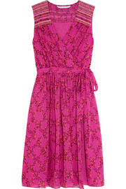 Bali floral-print silk-georgette dress