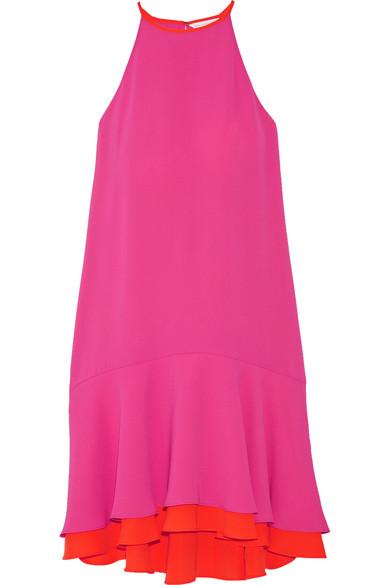 diane von furstenberg female 243279 diane von furstenberg kera layered crepe dress pink
