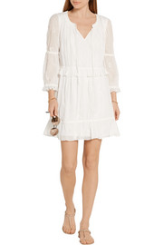 Diane von Furstenberg Edlyn broderie anglaise georgette mini dress