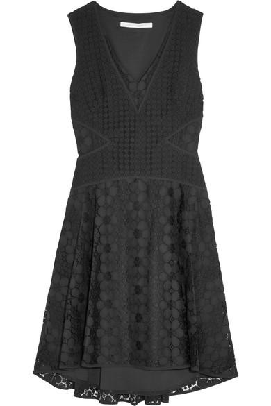 diane von furstenberg female 188971 diane von furstenberg fiorenza cadytrimmed crocheted lace dress black