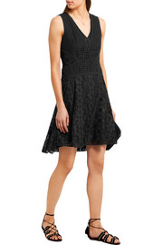 Diane von Furstenberg Fiorenza cady-trimmed crocheted lace dress