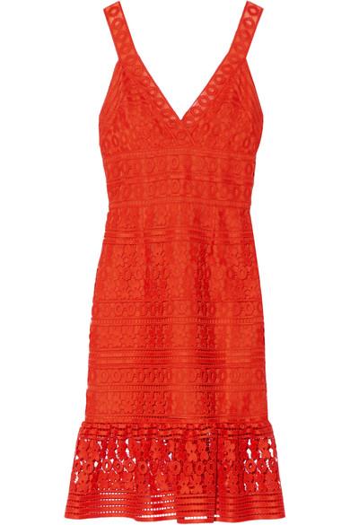 diane von furstenberg female 240769 diane von furstenberg tiana guipure lace dress bright orange