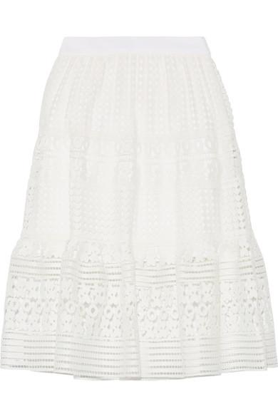 diane von furstenberg female 45883 diane von furstenberg tiana guipure lace skirt white
