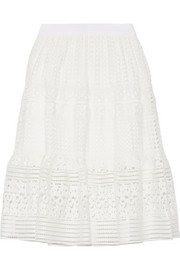 Tiana guipure lace skirt