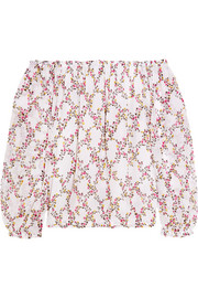 Diane von Furstenberg Kamber off-the-shoulder floral-print silk-chiffon top