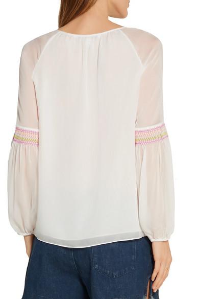 Diane von Furstenberg. Sammy embroidered silk-georgette top. $54. Play