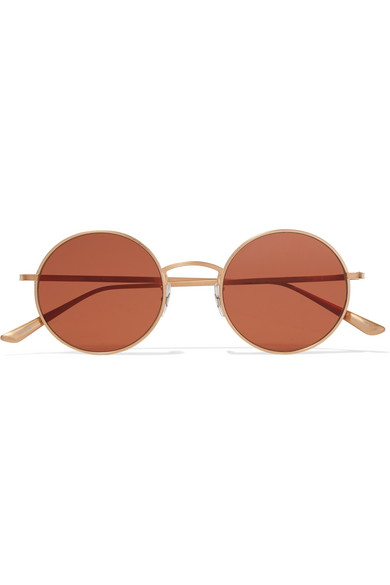 Oliver Peoples | + The Row After Midnight round-frame gold-plated ...