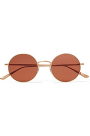 Oliver Peoples + The Row After Midnight round-frame gold-plated sunglasses