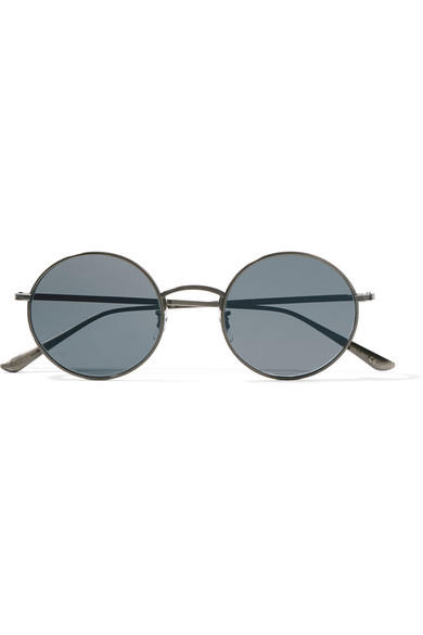 f5e285ca69 Oliver Peoples. + The Row After Midnight round-frame metal sunglasses