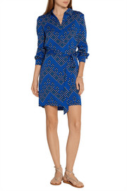 Diane von Furstenberg Seanna printed stretch-silk shirt dress