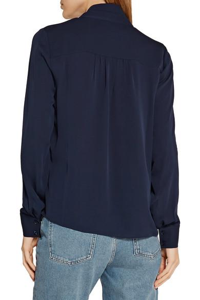 Diane von Furstenberg. Britni pussy-bow silk-georgette blouse. £125. Play.  Zoom In
