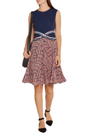 Diane von Furstenberg Rosalie jersey and printed chiffon dress