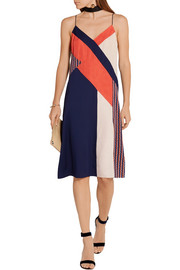 Diane von Furstenberg Frederica paneled printed stretch-silk dress