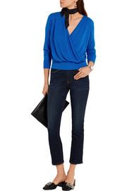 Diane von Furstenberg Wrap-effect cotton-blend sweater
