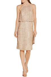 Diane von Furstenberg Samala beaded silk-chiffon dress