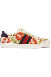 Gucci for NET-A-PORTER New Ace floral-print canvas sneakers